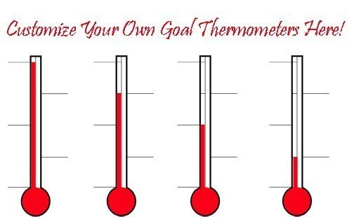 Quadruple Dry Erase Goal Thermometers