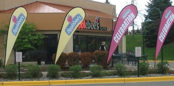 Custom Grocery Store Wind Sail Sign Banners