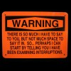 Orange & Black Warning Sign