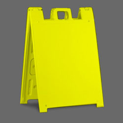 Yellow Square Plastic A-Frame Sign