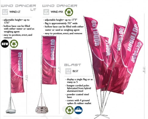 Outdoor Sail Banners and Wind Flags