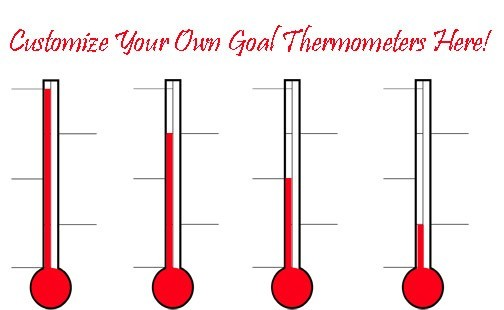 Goal thermometers sales goal thermometer donation for Donation thermometer template