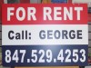 For Rent Aluminum Sign Double Sided