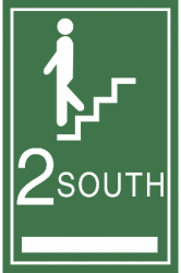 South A.D.A stairwell sign