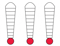 triple goal thermometer