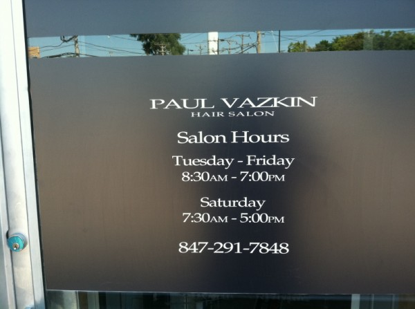 SIGNSNFRAMES - Window decals for business hours