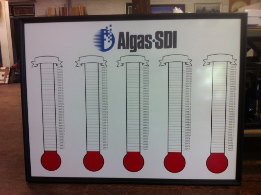 Dry Erase Goal and Fund Raising Thermometers
